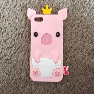 Accessories - SUPER CUTE PIG IPHONE 5 CASE
